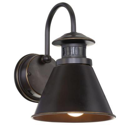 180-Degree Oil Rubbed Bronze Motion-Sensing Outdoor Wall Lantern