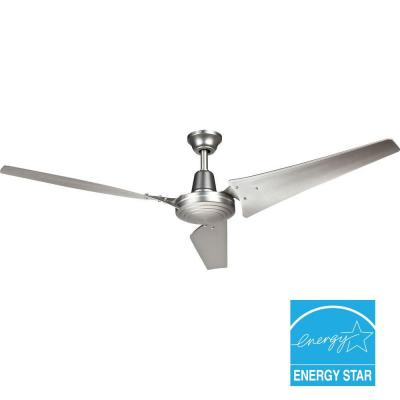 Hampton Bay Industrial 60 in. Brushed Steel Indoor Ceiling Fan