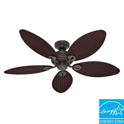 Hunter Bayview 54 in. Outdoor Provencal Gold Ceiling Fan