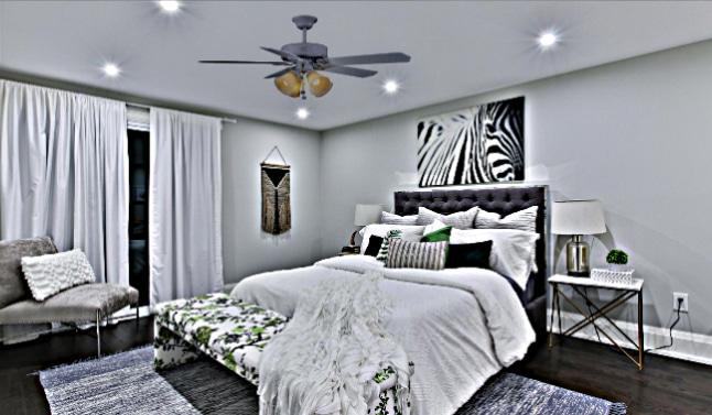 Huntington III Ceiling Fan in Room Decor