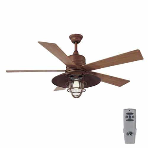 Metro 54 in Indoor Outdoor Rustic Copper Ceiling Fan
