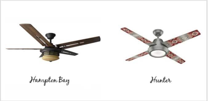 Comparison between Hunter Pendleton Ceiling Fan & Hampton Bay Pendleton Fan