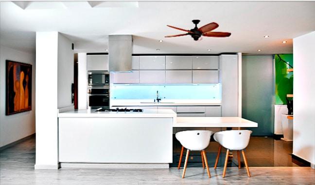 Hampton Bay Altura 56 inch Ceiling Fan in Kitchen