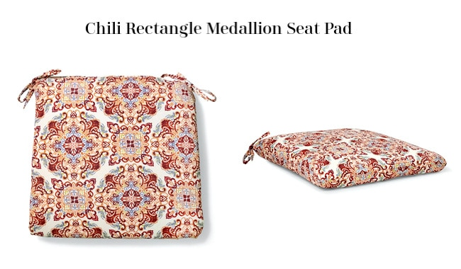 Chili Rectangle Medallion Seat Pad