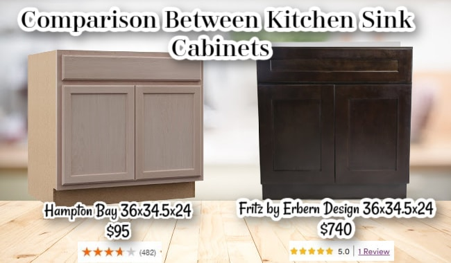 Comparison Kitchen Sink Cabinets