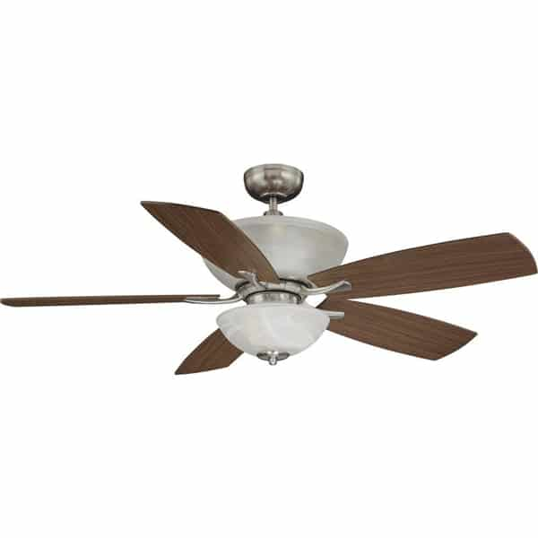 Durango 9 Light Brushed Nickel Ceiling Fan