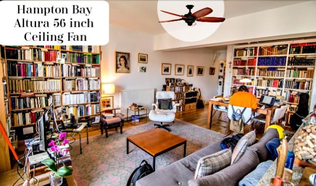 Hampton Bay 56in Ceiling Fan in Room