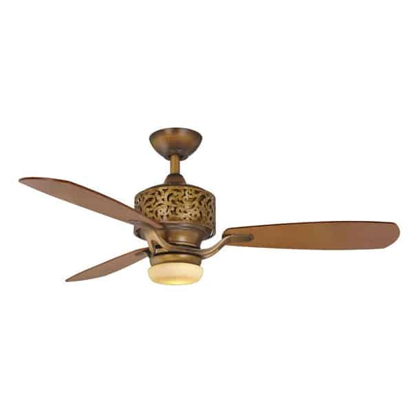 Hampton Bay Cailin 48 in. Gilded Bronze Ceiling Fan