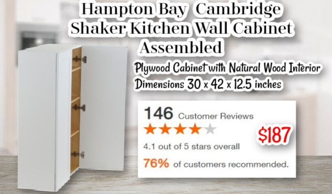 Hampton Bay Cambridge Shaker Kitchen Wall Cabinet