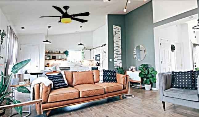 Covington Ceiling Fan in Room