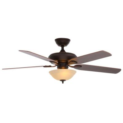 Hampton Bay Flowe 52 in. Mediterranean Bronze Ceiling Fan