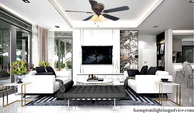 Hampton Bay Hayward Ceiling Fan in Lounge