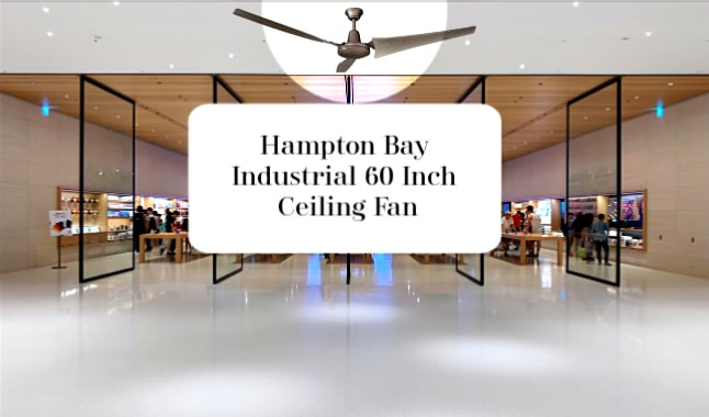 Hampton Bay Industrial 60 inch Ceiling Fan in Large Room