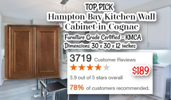 Hampton Bay Kitchen Wall Cabinet in Cognac