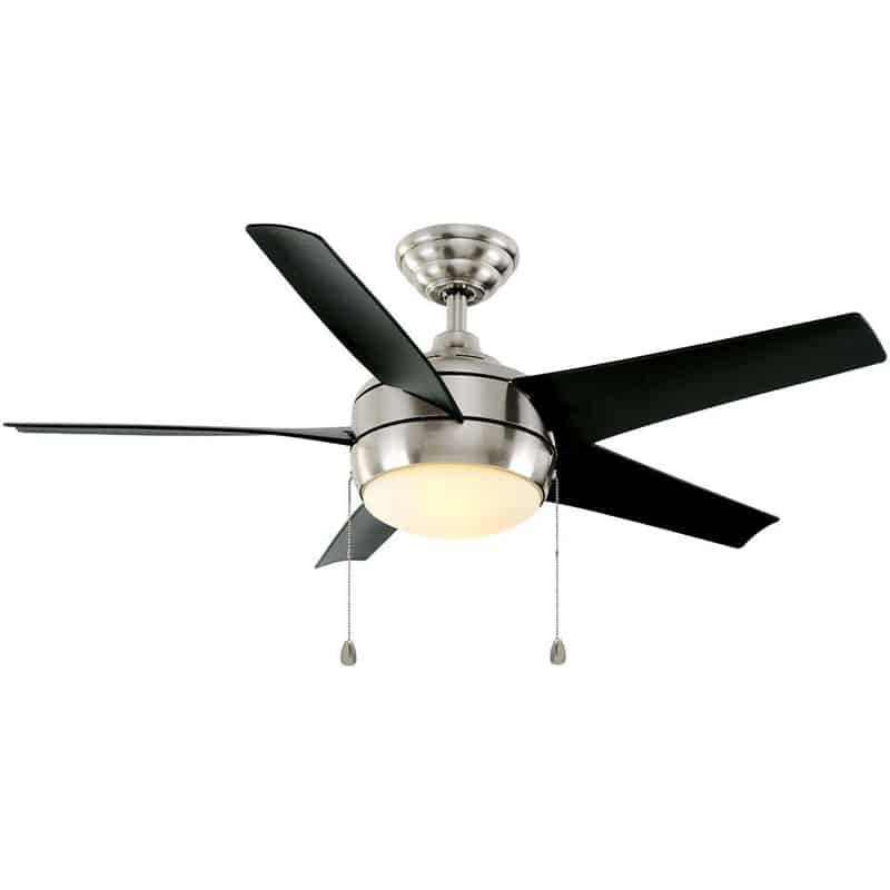 Hampton Bay Windward 44 in. Indoor Brushed Nickel Ceiling Fan