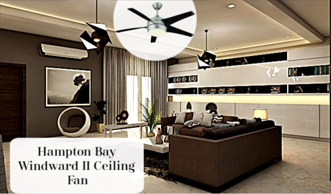 Windward II 54 inch Ceiling Fan in Room