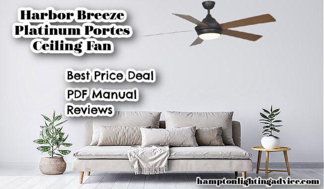 Harbor Breeze Platinum Portes Ceiling Fan