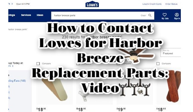 How to Contact Lowes for Harbor Breeze Replacement Parts
