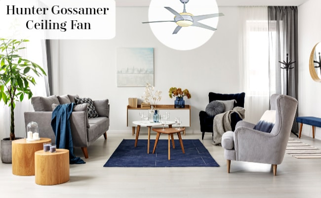 Hunter Gossamer Ceiling Fan in Bedroom