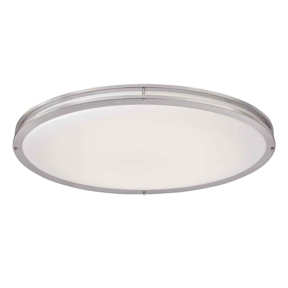 led brushed nickel oval flushmount
