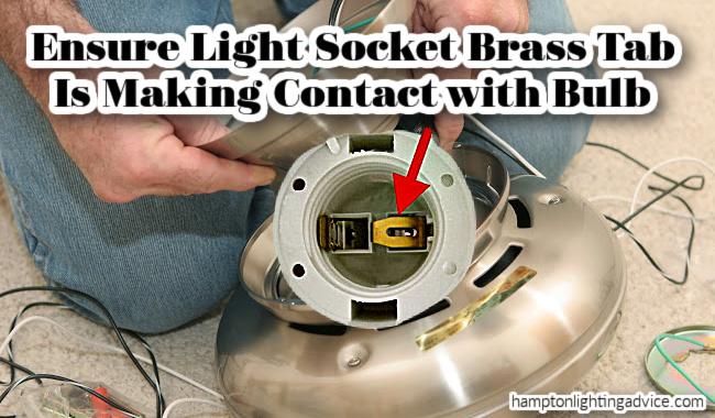 harbor breeze light socket tab