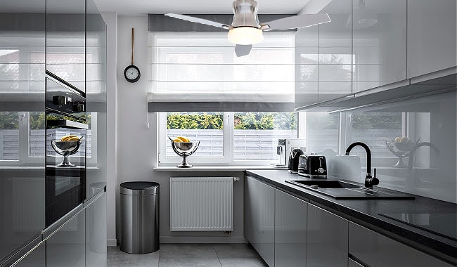 Marta Ceiling Fan in Kitchen