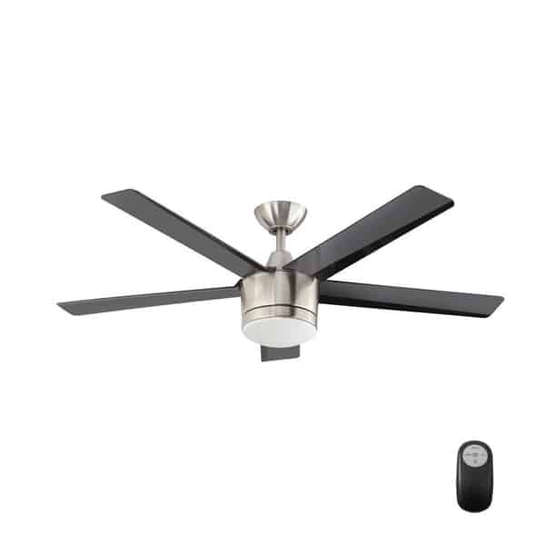 Merwry 52 in. LED Indoor Brushed Nickel Ceiling Fan