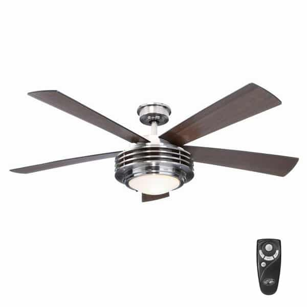 Mondrian 52 in. Indoor Brushed Nickel Ceiling Fan
