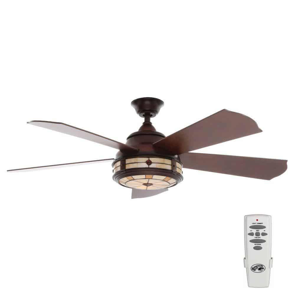 Savona 52 In Indoor Weathered Bronze Ceiling Fan