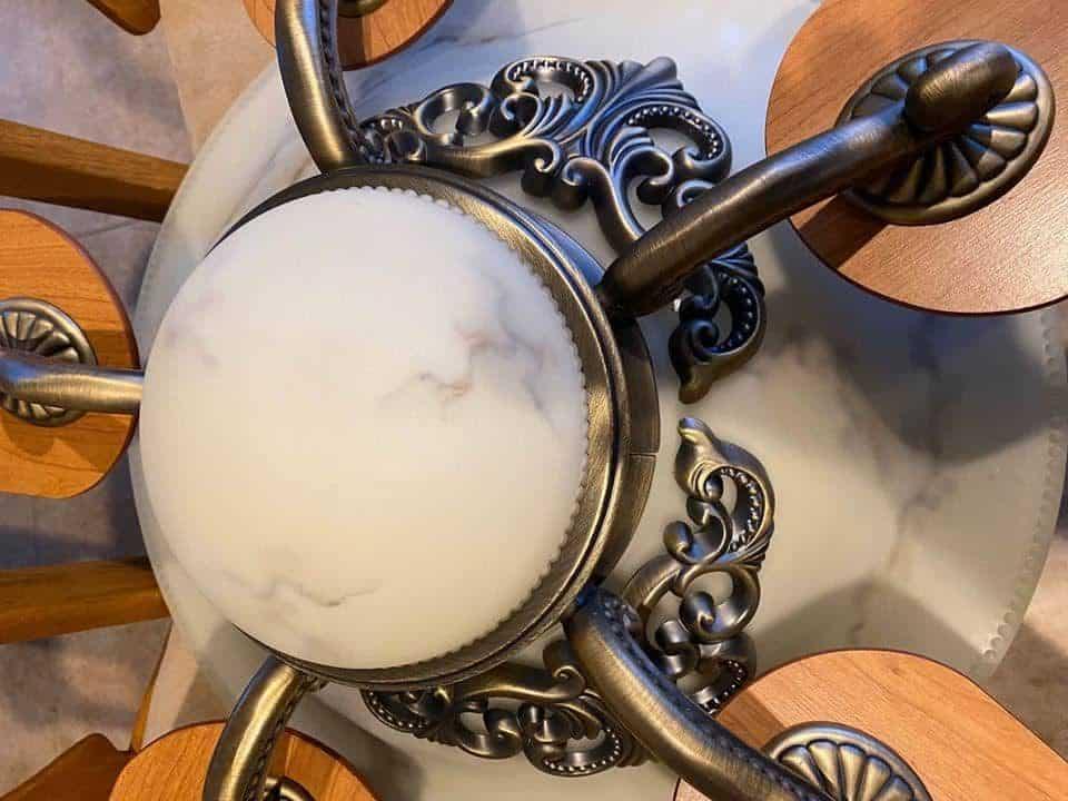 St Regis Ceiling Fan Glass Dome
