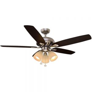 Rockport 52 in. LED Brushed Nickel Ceiling Fan